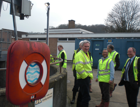RCA members with Thames Water staff at Chesham STW
